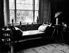 By the window in Duncan Grant's bedroom at Charleston.