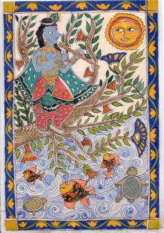 Indian Art On Pinterest Indian Paintings Krishna And
