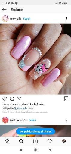 Glow Nails, Magic Nails, Glitter Nail Art, French Nails, Short Nails, Pink Nails, Beauty Nails, Pretty Nails, Nail Art Designs