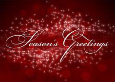 Season's Greetings Sparkle Holiday Card