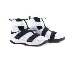 timeless design 8360b 1bcaf NIKE GS LeBron Soldier 10 Basketball Shoes - White Black