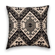 Charcoal Decorative Kilim Pillow Cover  by CodyandCooperDesigns, $49.00