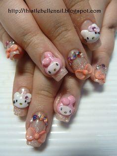 Hello Kitty 3d Nail Art