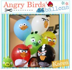 Angry Birds Balloons-site has cute ideas for Angry Birds theme party. Cumpleaños Angry Birds, Festa Angry Birds, Bird Birthday Parties, Boy Birthday, Birthday Balloons, Bird Party, Bird Theme, Party Time, Babybel Cheese