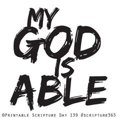 My God is able!    scripture365