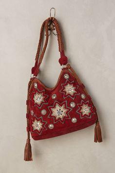 Anthropologie Seeing Stars Beaded Hobo Bag