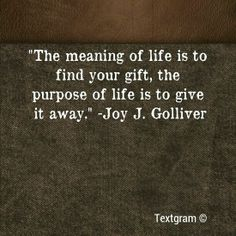 Giving to others and forgetting about yourself even when it hurts helps to heal the wounded heart.