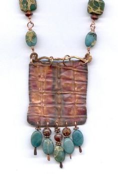 Desert Sky Folded Copper Necklace