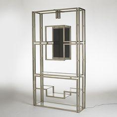 Kim Moltzer, Chrome-Plated Steel Illuminated Shelf, c1968