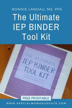FREE during January 2018! The Ultimate IEP Binder Toolkit for Special Ed Parents has 40 pages of forms, lists and information. This toolkit gives you all the pieces you need to stay organized! It even has pre-laid out pages for binder tabs, and cover and spine printouts for your notebook. It makes it super easy to get organized so all the information is quick to access. #IEP #SpecialEd #SpecialEducation #Autism #ADHD #APD #SPD #education #Parenting #SpecialNeeds #SpecialNeedsParenting