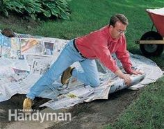 Line the koi pond bed with a 1/2-in. layer of newspapers. The newspaper helps prevent liner punctures and will eventually decompose and form a clay-like layer.