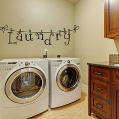 Items similar to Laundry Wall Decal - Wall Decal - Laundry Room Decor - Laundry Decal Wall Decals - Wall Vinyl - Vinyl Decal - Wall Decor - Decals - on Etsy Laundry Room Decals, Kitchen Wall Decals, Laundry Room Design, Laundry Rooms, Laundry Area, Laundry Station, Laundry Center, Kitchen Vinyl, Small Laundry