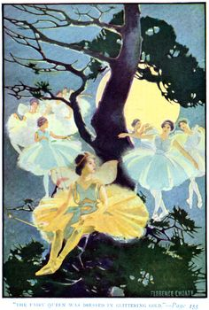 """Art by Florence Choate (1923), """"Man in the Moon's Party."""""""
