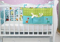 Pocket organizer/Giraffe nursery decor/ Giraffe baby shower gift/ Crib organizer/ Toy organizer/ Nursery organizer / Nursery  bedding (4)