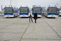 Polizeibusse am Afrikaterminal,Hamburg
