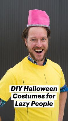 Lazy Halloween Costumes, Halloween Diy, Dress Up Costumes, Diy Costumes, Teen Humor, Lazy People, Best Blogs, Lets Celebrate, Easy Diy