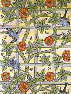 William Morris Wallpaper http://www.victoriana.com/Wallpaper/williammorris.php