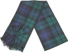 Scottish 100% Wool Tartan Ladies Mini Sash with Rosette - Blackwatch -- Be sure to check out this awesome product.