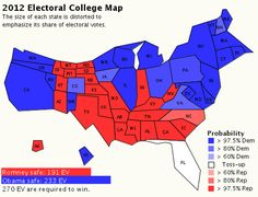 I appreciate this 2012 Electoral College Map of the United States. It puts a state's influence in perspective.