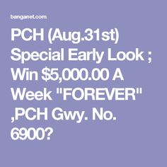 Pch Special Early Look.html | Autos Post