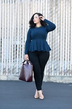 awesome Girl With Curves Haute Knit - She is AWESOME! Makes we want to step my fashion g...