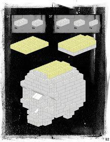 Skull-A-Day: [BONUS] Lego Skull Instructions