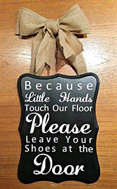 Amazon.com: 11.5x8.5 Please Remove Your Shoes Sign - No Shoes Sign - Take Your Shoes Off Sign: Handmade