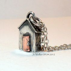Sterling Silver Beach Hut with Chain and by StudioJewellerybyJo, £72.00