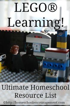 LEGO Learning: Ultimate Homeschool Resource List from #Homeschool Encouragement #HSencouragement
