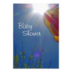 Reach for the Sky Custom Baby Shower Invitation