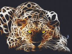 Pounce Fractal Tiger Counted Cross Stitch Pattern - Beautiful Large XStitch Design. $2.95, via Etsy.