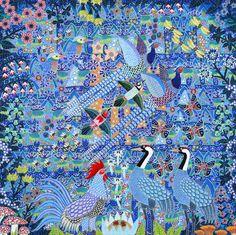 Som et krystaliseret spejlæg glanede morgensolens øje ind i fuglenes katedral ~ Esben Hanefelt Kristensen ~ Galerie Knud Grothe