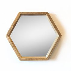 Hexagon Mirror in Natural Aged Fir by SilicateStudio on Etsy