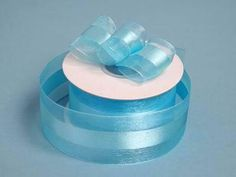 """10 Yards 1.5"""" DIY Turquoise Satin Center Ribbon For Craft Dress Wedding / These wider satin center sheer organza Ribbons are perfect to wrap the big favors up, tie the balloons with or adorn pretty attire. Satin-center gives the ribbon a unique glistening look when used in bows and provides more body and stiffness than the mono-edge, it's great to use for bows, veils, etc. The impeccable sheen of the organza ribbon will surely accentuate the elegance of any dull favor or decoration. You can…"""