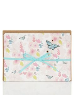 Nicola Blanchfield designed butterfly pastel card for Tigerprint