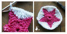 Tutorial Part2 crochet granny geometrical blanket afghan throw tutorial patterns