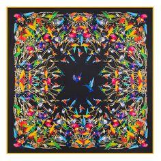 2017 New Arrival Luxury Brand Silk Woman Scarf Square Scarves bird paying homage to the phoenix Silk Scarf&Wraps Hijab Phoenix Design, Bandana Colors, Silk Bandana, Joker, Silk Shawl, Bird Patterns, Bird Prints, Square Scarf, Aliexpress