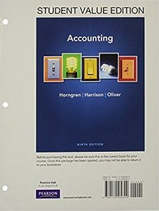 Instant download and all chapters Solutions Manual Accounting 9th Edition Horngren Harrison Oliver  View free sample: Solutions Manual Accounting 9th Edition Horngren Harrison Oliver