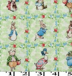 Beatrix Potter: Quilt Squares, Crib Sheets