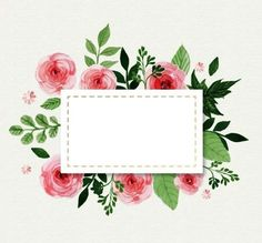64 Ideas For Flowers Vintage Drawing Sweets Watercolor Flowers, Watercolor Art, Floral Watercolor Background, Drawing Flowers, Wallpaper Backgrounds, Iphone Wallpaper, Wallpapers, Borders And Frames, Floral Border