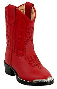 Durango® Infants Silver Tip Western Boots - Red $34.99