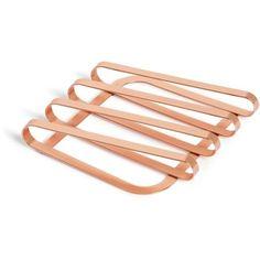 Dessous de plat design en métal Pulse Cuivre
