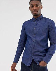 Burton Menswear denim shirt in blue LPA-Lisa-After Work Casual-Men Work Casual, Men Casual, Denim Button Up, Button Up Shirts, Denim Fashion, Womens Fashion, Burton Menswear, Saved Items, Denim Shirt