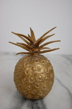 Brass Pineapple Fruit Figure or Paperweight by PursuingVintage1