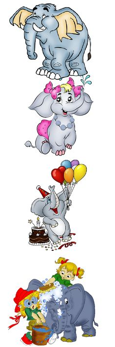 Funny Baby Elephant Clip Art Images.All Baby Elephant Cartoon Images Are On A Transparent Background