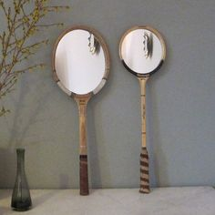 Tennis Racket Mirror by SnugInteriors on Etsy, $70.00