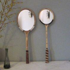 Tennis Racket Mirror by SnugInteriors on Etsy, $70.00