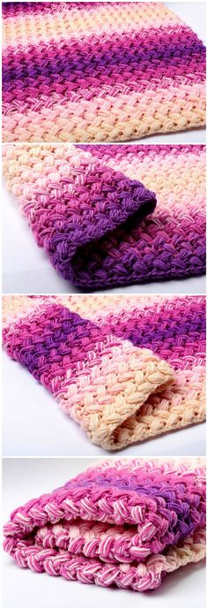 Crochet Zig Zag Blanket | pretty handmade purple and pink blanket| decorate vintage