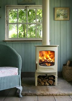 Farmhouse Living Room by Morley Stove Company Ltd