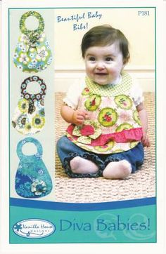 Dress you baby for success with the most beautiful bibs ever! Four styles available: Anju, Belle, Clara and Dilla